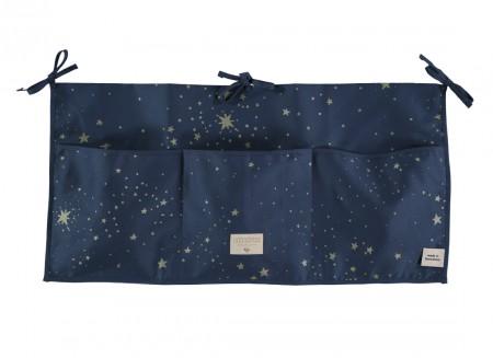 Merlin crib organizer 30x60 gold stella/ night blue