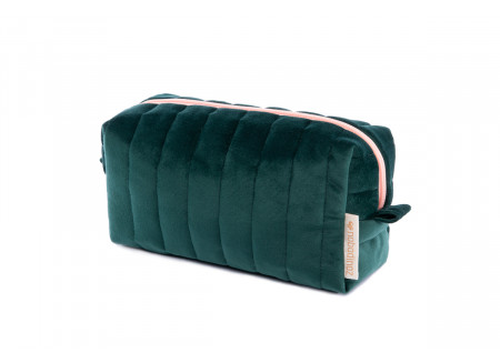 Savanna velvet Vanity Case jungle green