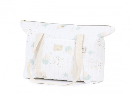 Paris maternity bag • aqua eclipse white