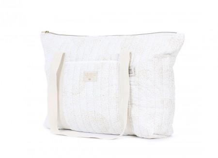 Paris maternity bag 34x50x12 gold bubble/ white