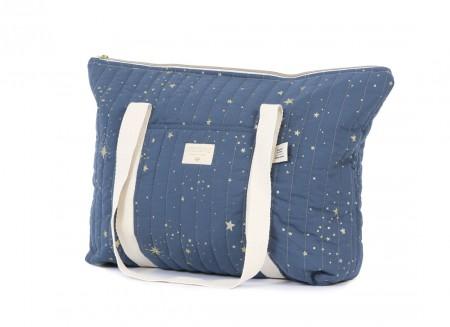 Paris maternity bag 34x50x12 gold stella/ night blue