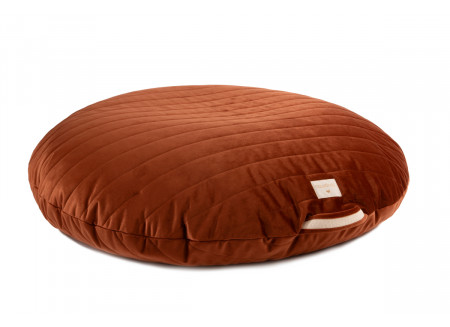 Sahara floor cushion • velvet wild brown