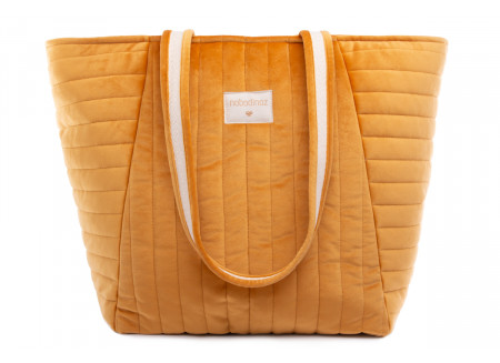 Savanna velvet bag • farniente yellow