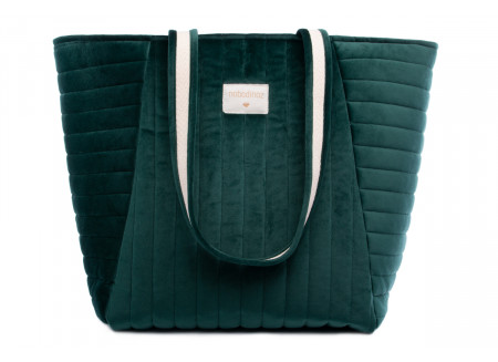 Savanna velvet Maternity Bag jungle green
