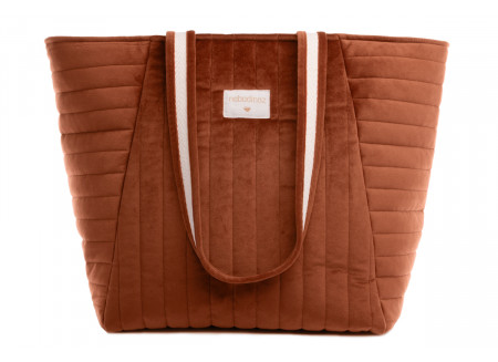 Savanna velvet bag • wild brown