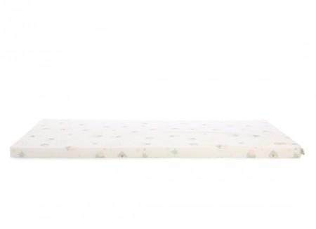 Saint Barth floor mattress 60X120X4 aqua eclipse/ white