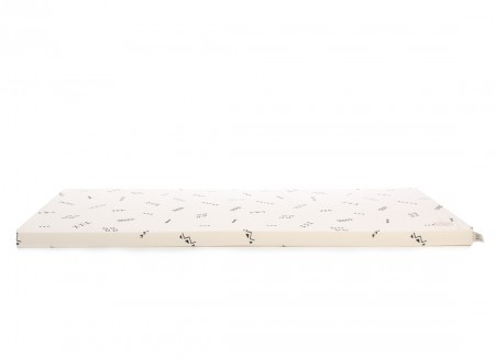 Saint Barth floor mattress 60X120X4 black secrets/ natural
