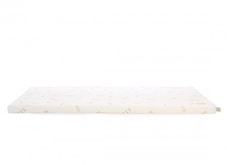 Saint Barth floor mattress 60X120X4 gold secrets/ white