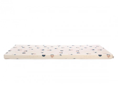 Saint Barth floor mattress 60X120X4 night blue eclipse/ natural