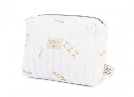 Travel vanity case 18x25x7 gold secrets/ white