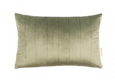 Akamba cushion • velvet olive green