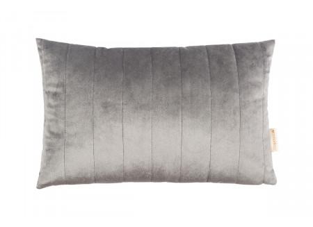 Akamba cushion • velvet slate grey