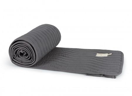 Alexandria cot bumper • slate grey