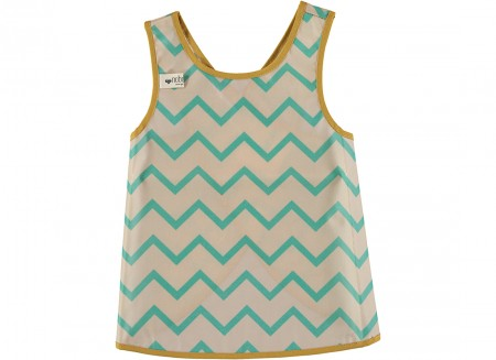 apron calabria zigzag green - 2 sizes