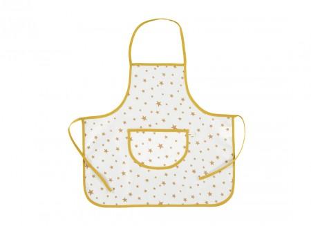 Apron Sicilia mustard stars