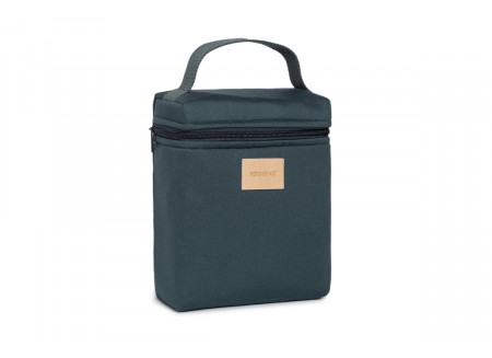 Baby on the go insulated baby bottle and lunch bag • carbon blue