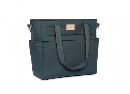 Baby on the go waterproof changing bag • carbon blue