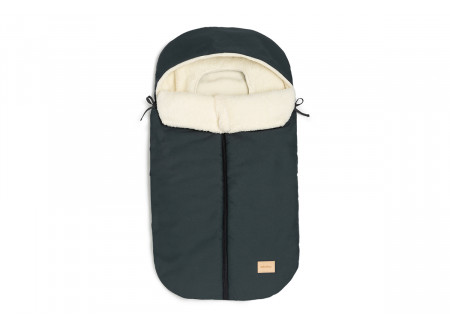 Baby on the go waterproof footmuff • carbon blue