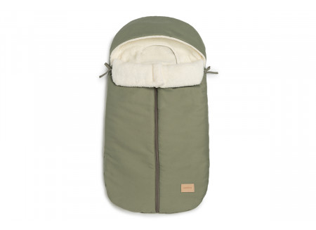 Baby on the go waterproof footmuff • olive green