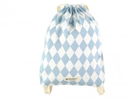 Florencia backpack 25x34 blue diamonds