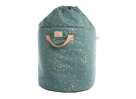 Bamboo toy bag gold confetti/ magic green - 2 sizes
