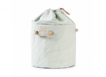 Bamboo toy bag white bubble/ aqua - 2 sizes