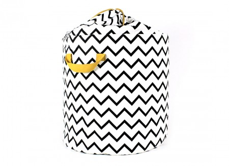 Baobab toy bag zig zag black - 2 sizes