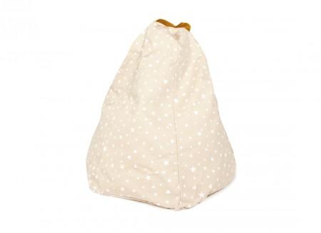 Marrakech kid beanbag • sand white stars
