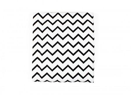 Blanket Copenhague zigzag black – Mini