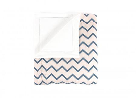 Blanket Copenhague zigzag blue – Mini
