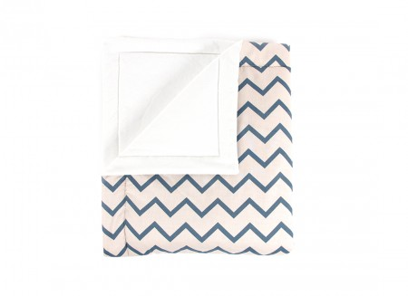 Blanket Copenhague zigzag blue – adult