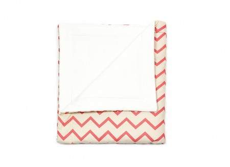 Blanket Copenhague zigzag pink – adult