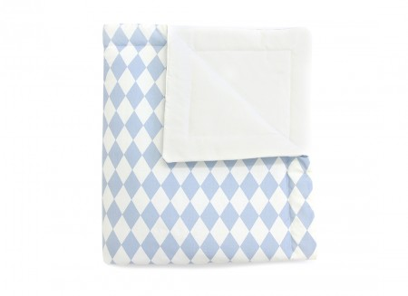 Blanket Copenhaguen blue diamonds - 2 sizes