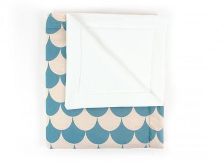 Copenhague blanket blue scales - 2 sizes