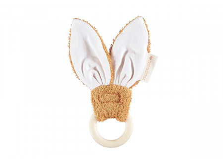 Bunny teether ring Caramel