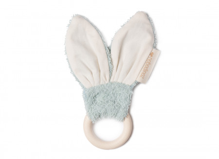 Bunny teether ring 7cm green
