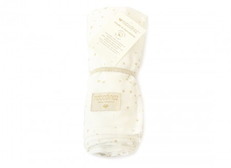Butterfly swaddle 100X120 gold stella/ white