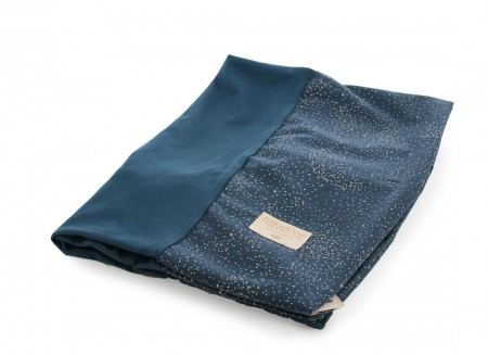 Calma changing cover 70x50 gold bubble/ night blue