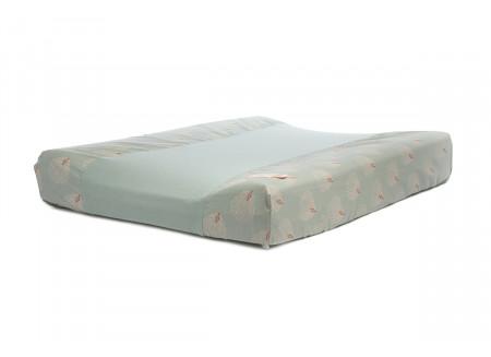 Calma waterproof changing mat • white gatsby antique green