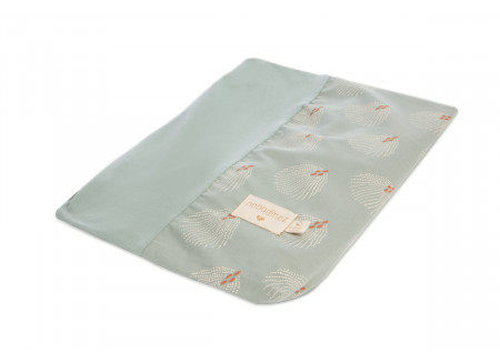 Calma changing cover • white gatsby antique green