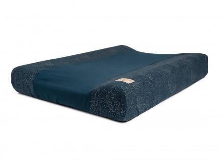 Calma waterproof changing mat • gold bubble night blue
