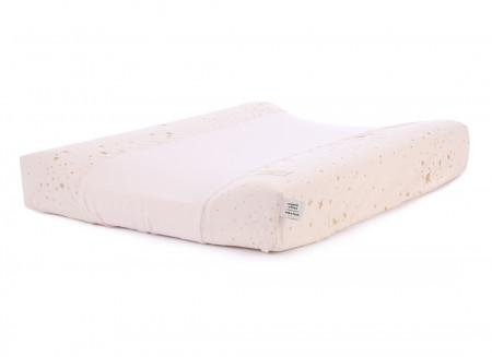 Calma waterproof changing mat • gold stella dream pink