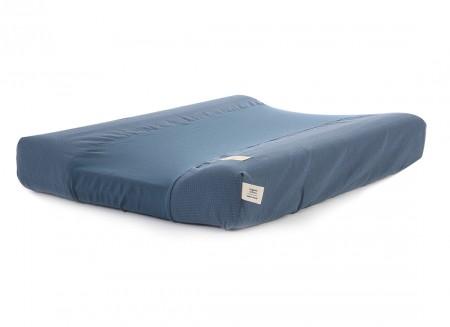 Calma waterproof changing mat & cover honeycomb 70x50 night blue