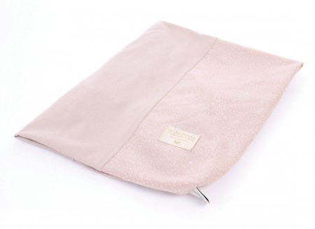 Calma changing cover 70x50 white bubble/ misty pink