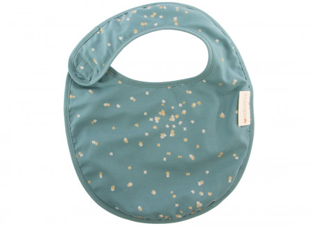 Candy bib gold confetti/ magic green