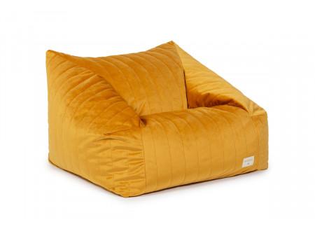 Chelsea armchair beanbag • velvet farniente yellow