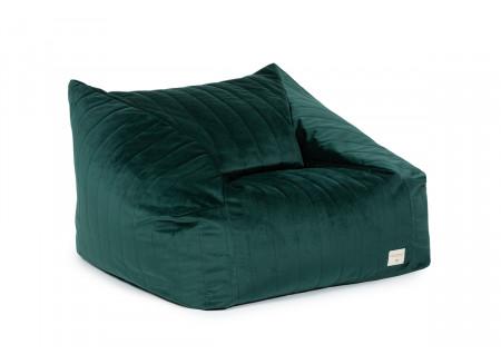 Chelsea armchair beanbag • velvet jungle green