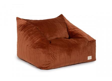 Chelsea armchair beanbag • velvet wild brown