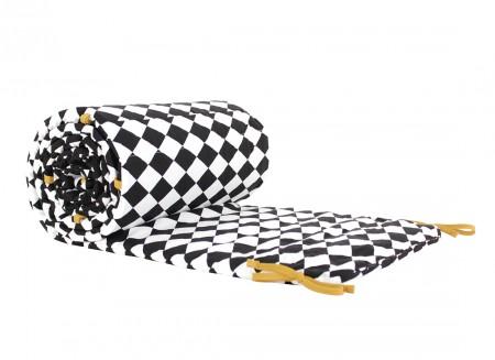 Constantinople cot bumper 207x31x2 black diamonds
