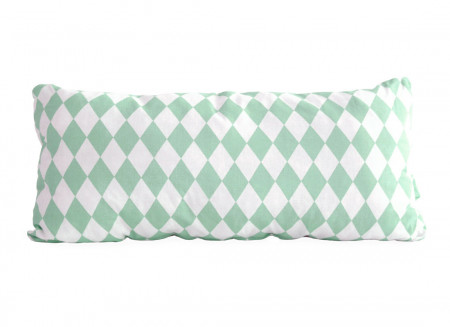 Averell cushion 52x24 green diamonds